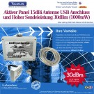 Aktiver USB Stick Antenne  Panel Antenne 15dBi Wandhalter