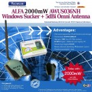 Highpower USB Wlan Adapter Alfa Network AWUS036NH