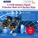 WLAN Adapter Pigtail N Stecker Male zu N Stecker Male