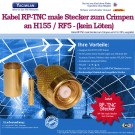WLAN RP-TNC Stecker / Male zu Crimpen f�r RF5 / H155 Kabel