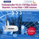 WLAN Router 150Mbps Router TL-WR741ND f�r UMTS Stick und 3dBi WLAN Antenne