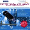 Highpower 1000mW USB Wlan Adapter Alfa Network AWUS036NEH Mini