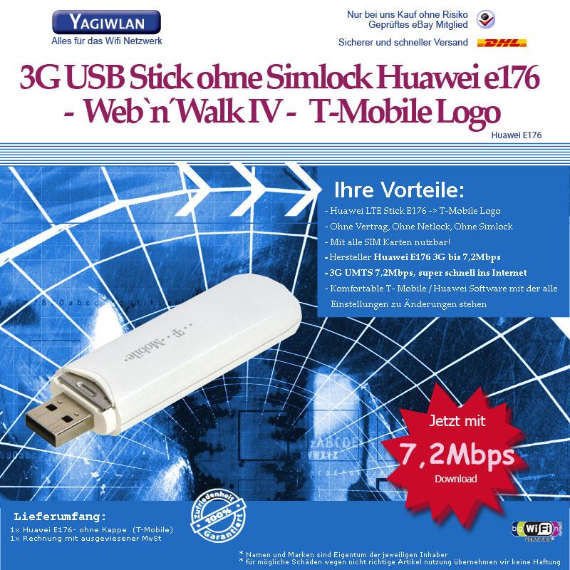 huawei e176 telekom web and walk iv usb umts surfstick. Black Bedroom Furniture Sets. Home Design Ideas